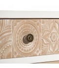 MUEBLE TV 4 CAJONES BLANCO-NATURAL 118 X 38 X 47 CM