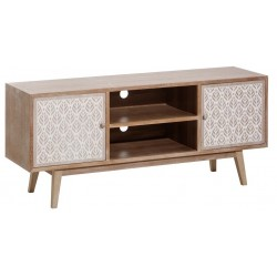 MUEBLE TV NATURAL-BLANCO DM-MADERA 140 X 40 X 60 CM