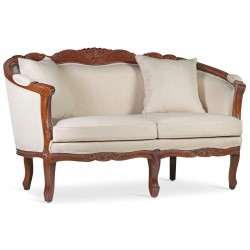 SOFA VINTAGE LOUIS HONEY 2 PLAZAS CON COJIN