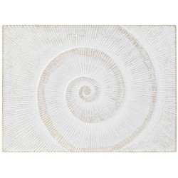 DECORACION PARED MDF ESPIRAL NATURAL
